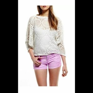 Blank NYC Women's The TOOTIE FITTED Pink Shorts